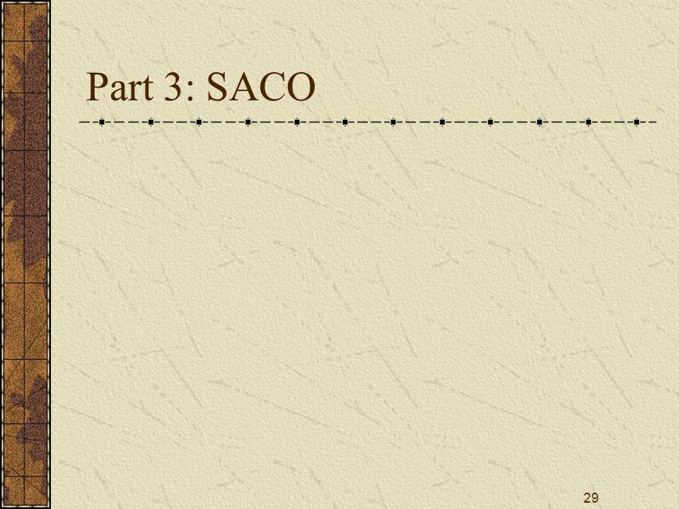 29 Part 3: SACO