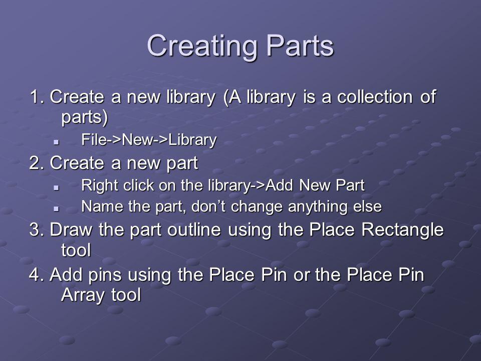 Creating Parts 1.
