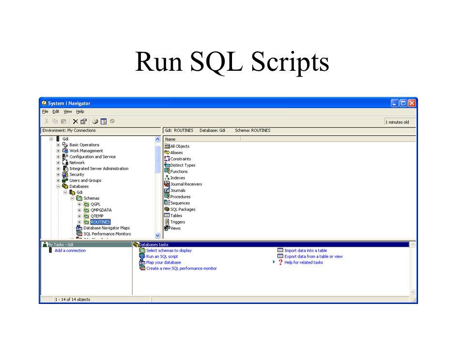 Run SQL Scripts