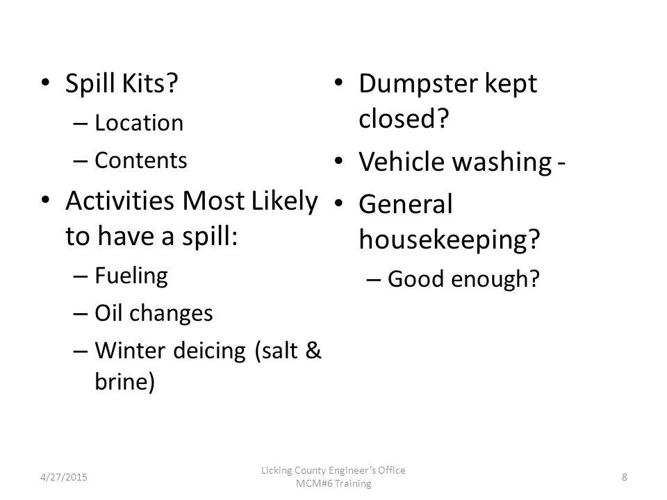 Spill Kits.