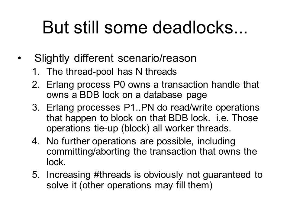 But still some deadlocks...