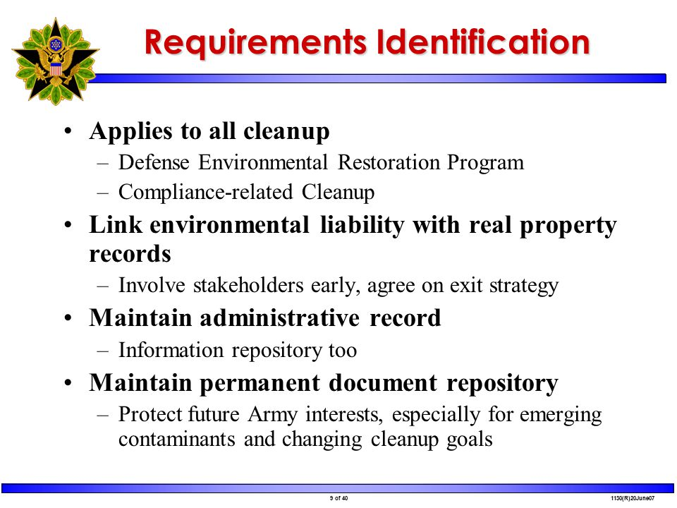 40 of 40 1130(R)20June07 Resources http://aec.army.mil/usaec/cleanup/pbc00.html Performance-Based Acquisition web page