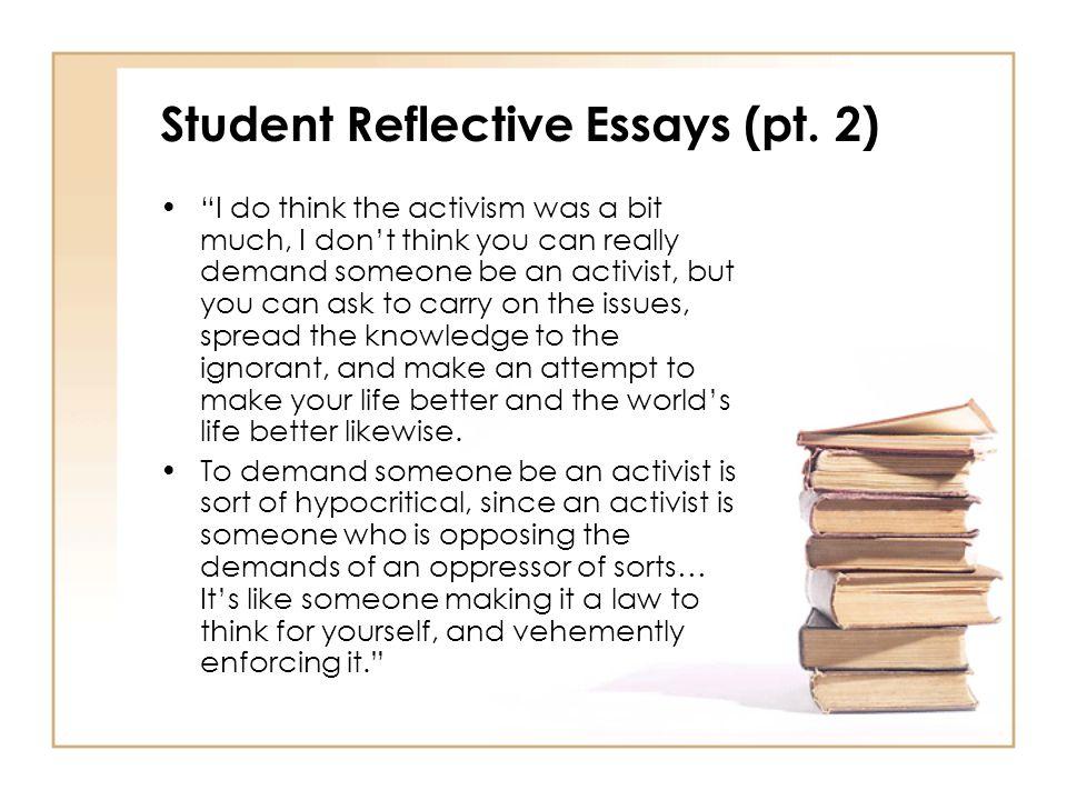 Student Reflective Essays (pt.