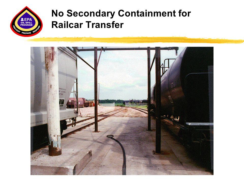 No Secondary Containment for Railcar Transfer