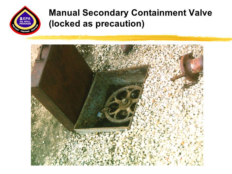 Manual Secondary Containment Valve (locked as precaution)