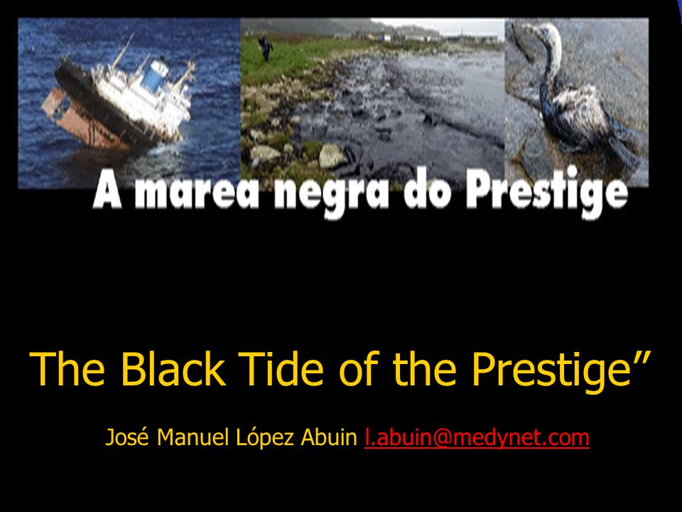 A http://www.seo.or/2002/prestige/ The disaster of the oil tanker Prestige and its impact on seabirds http://www.comm-prestige.cesga.es/ Information a