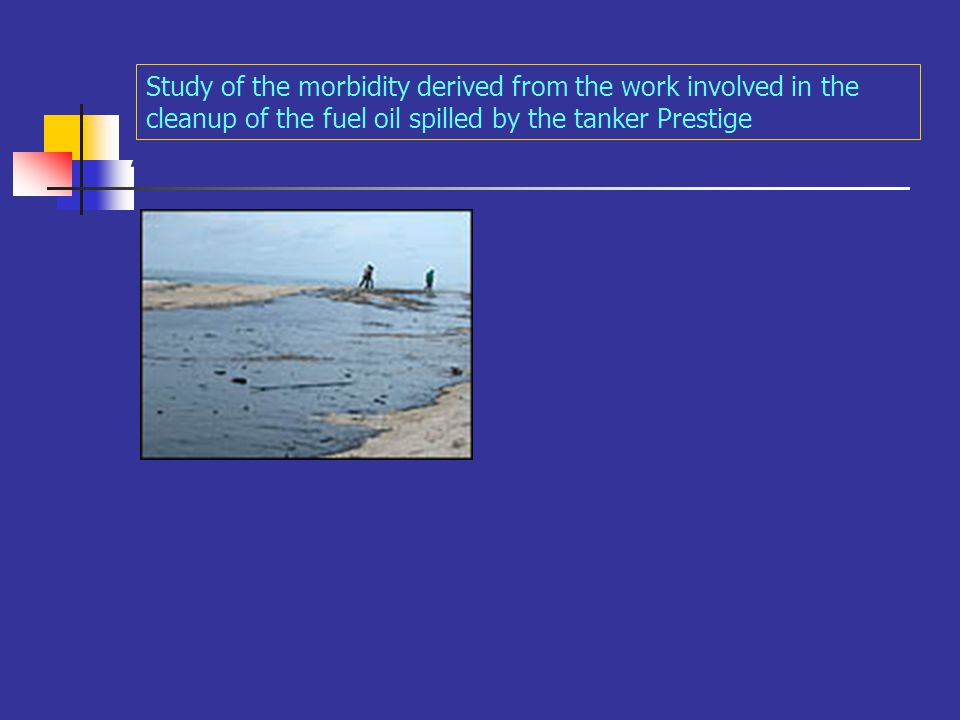 A Study of the morbidity derived from the work involved in the cleanup of the fuel oil spilled by the tanker Prestige