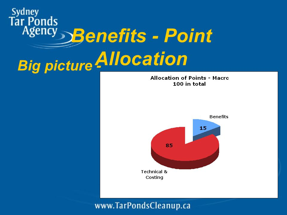 Benefits - Point Allocation Big picture -