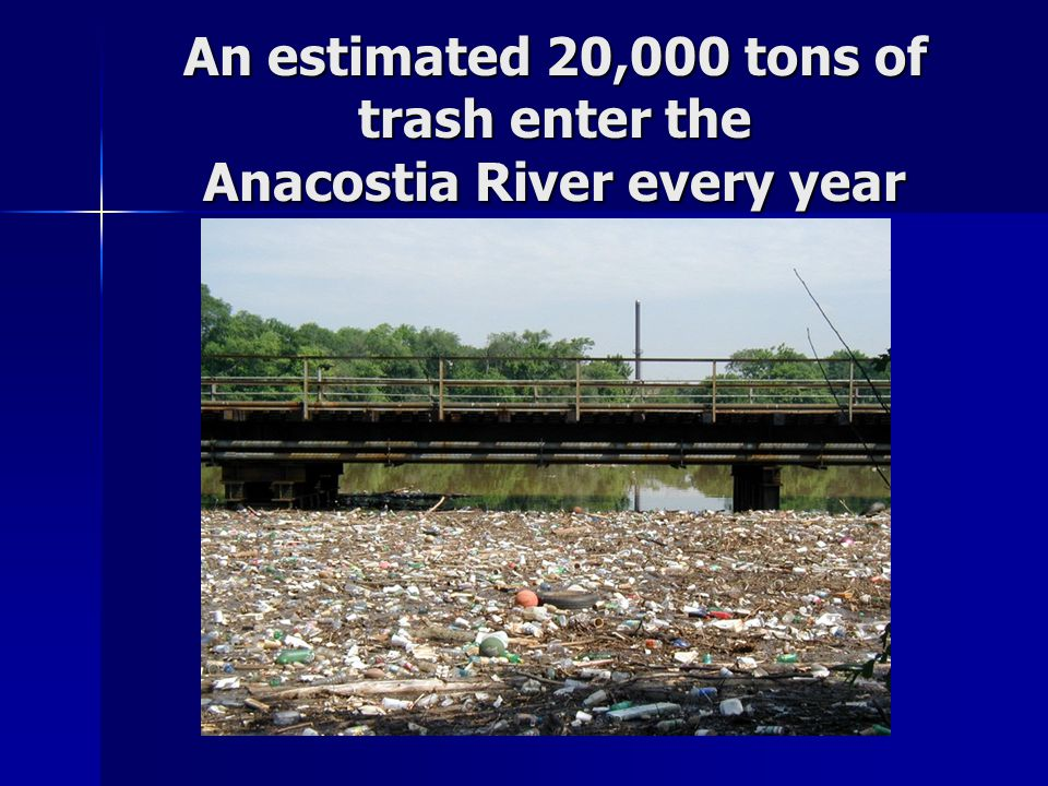 An estimated 20,000 tons of trash enter the Anacostia River every year