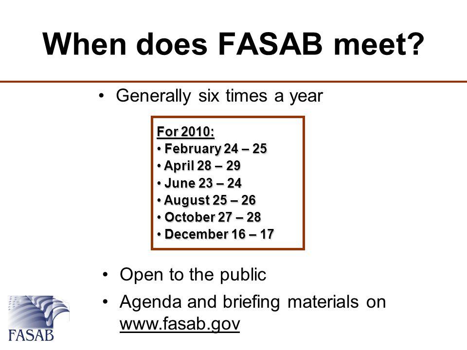 Where does FASAB meet.