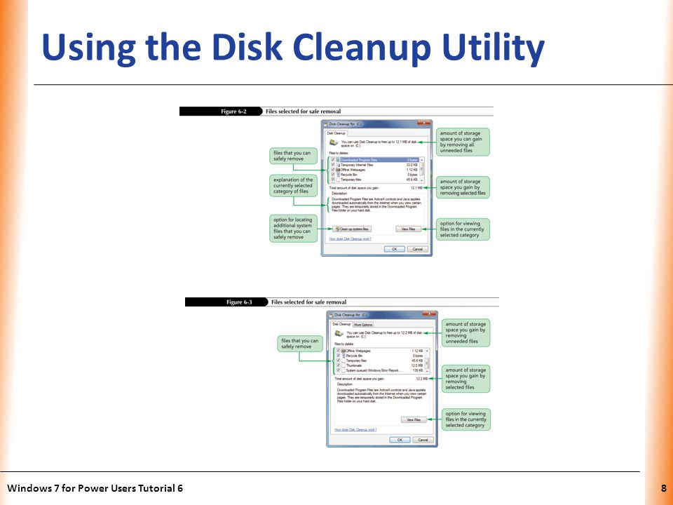 XP Using the Disk Cleanup Utility Windows 7 for Power Users Tutorial 68