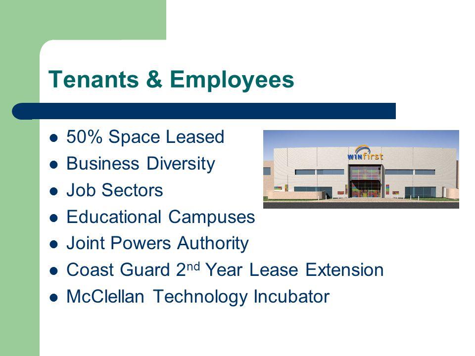Number of Jobs Job Diversity Sectors at McClellan Park February 2006