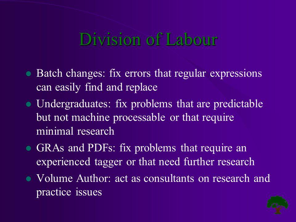 Sample Batch Changes