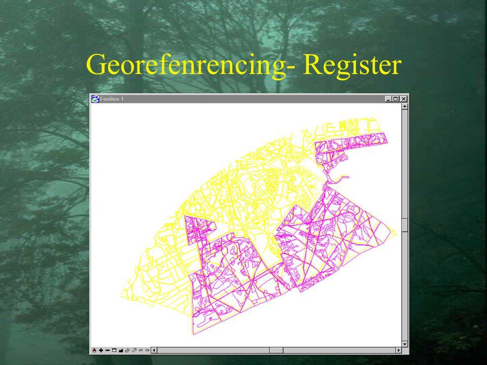 Georefenrencing- Register