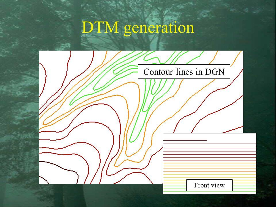 DTM generation Contour lines in DGN Front view