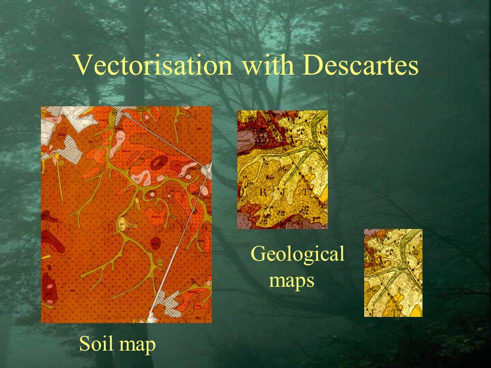 Vectorisation with Descartes Soil map Geological maps