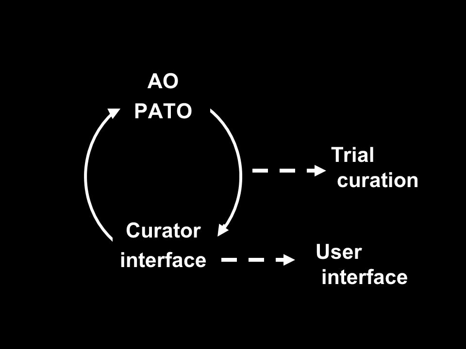 AO PATO Curator interface Trial curation User interface