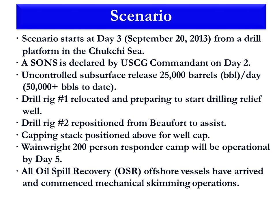 ScenarioScenario · Dispersant equipment being staged in Barrow.