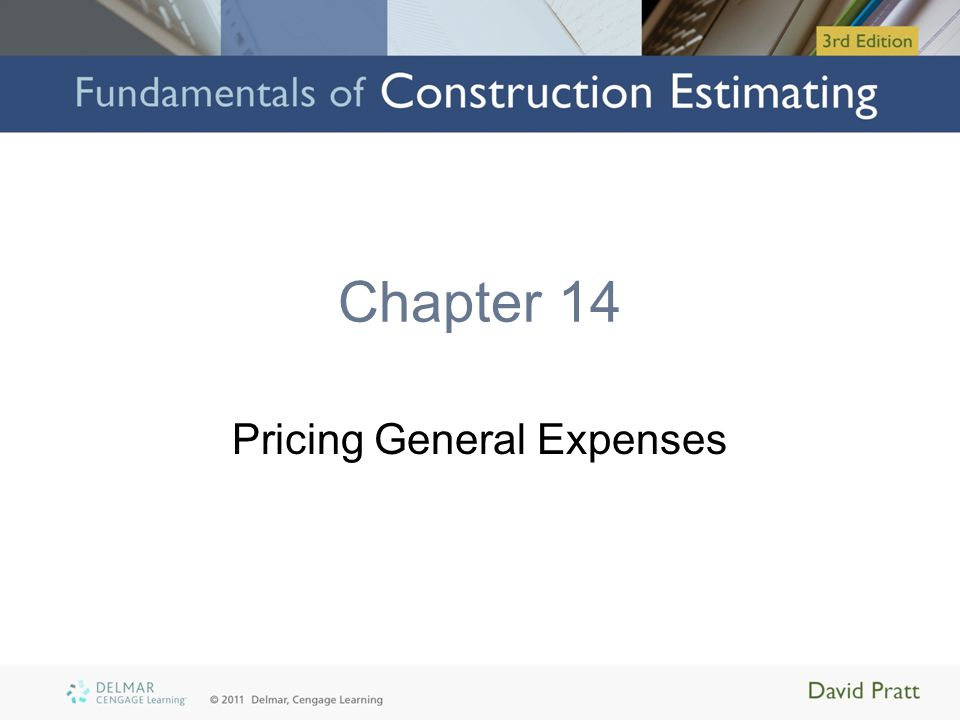 Chapter 14 Pricing General Expenses