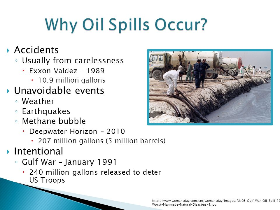 Why Oil Spills Occur.