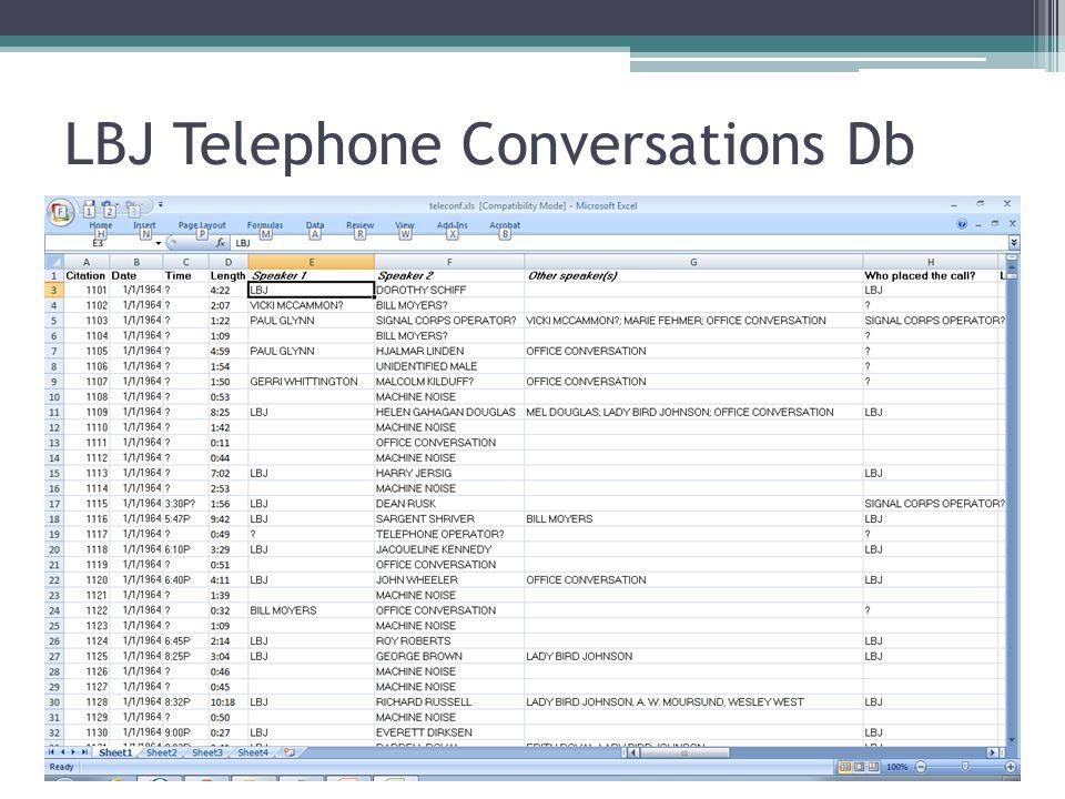 LBJ Data in OpenRefine