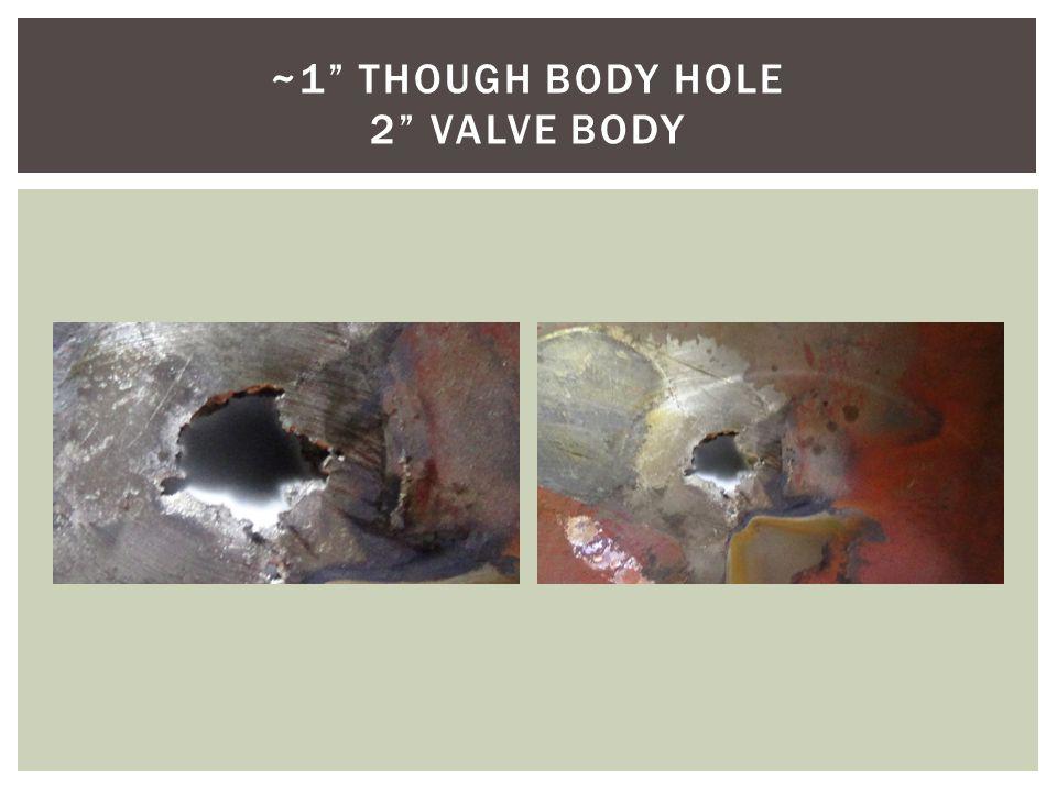 ~1 THOUGH BODY HOLE 2 VALVE BODY