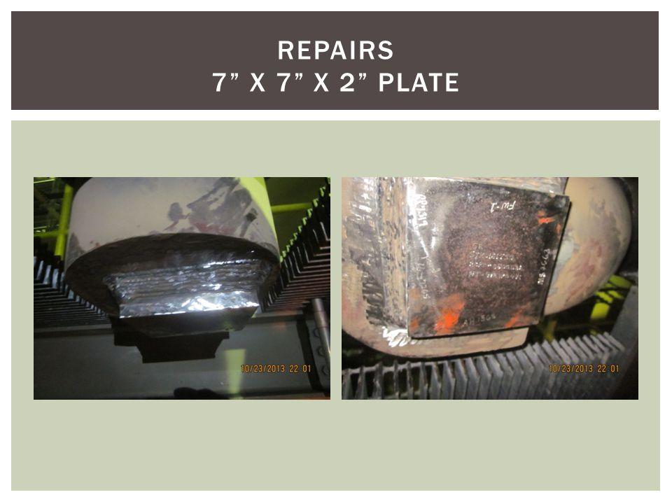 REPAIRS 7 X 7 X 2 PLATE