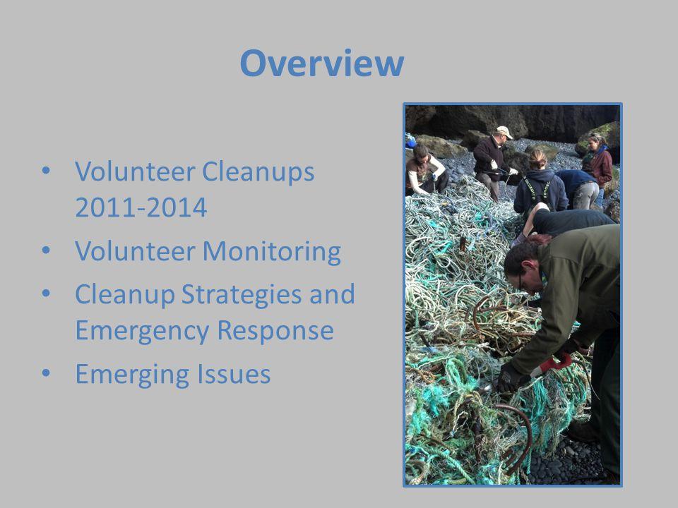 Volunteer Cleanup Stats: 2011-2014 2011 2012 2013 2014