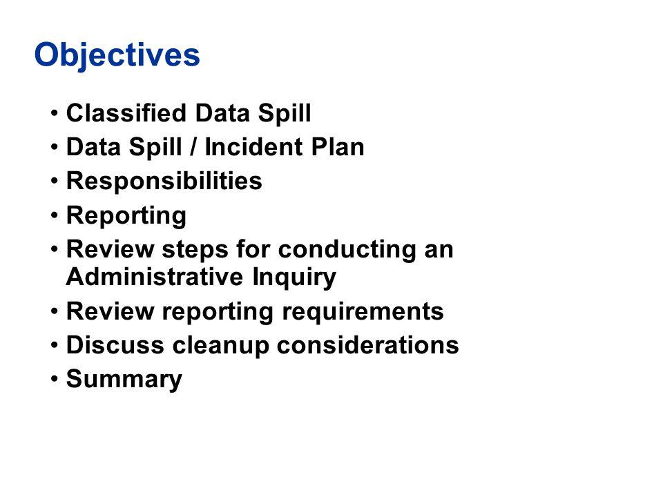 Sample Administrative Inquiry