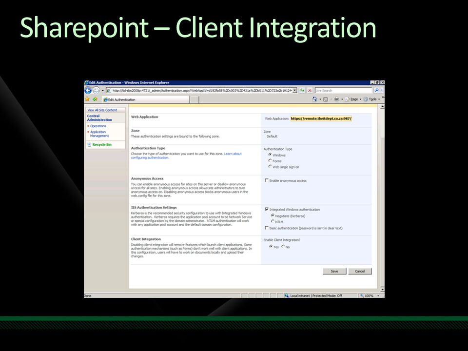 Sharepoint – Client Integration