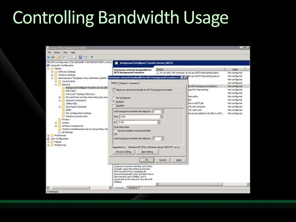 Controlling Bandwidth Usage
