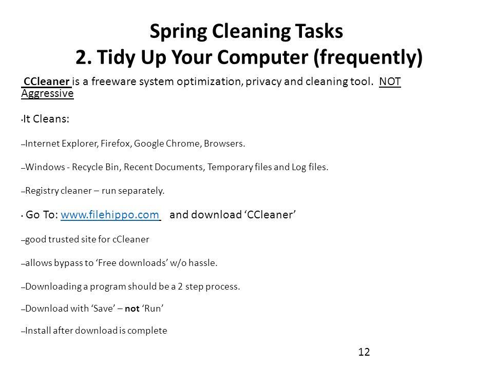 Spring Cleaning Tasks 2.