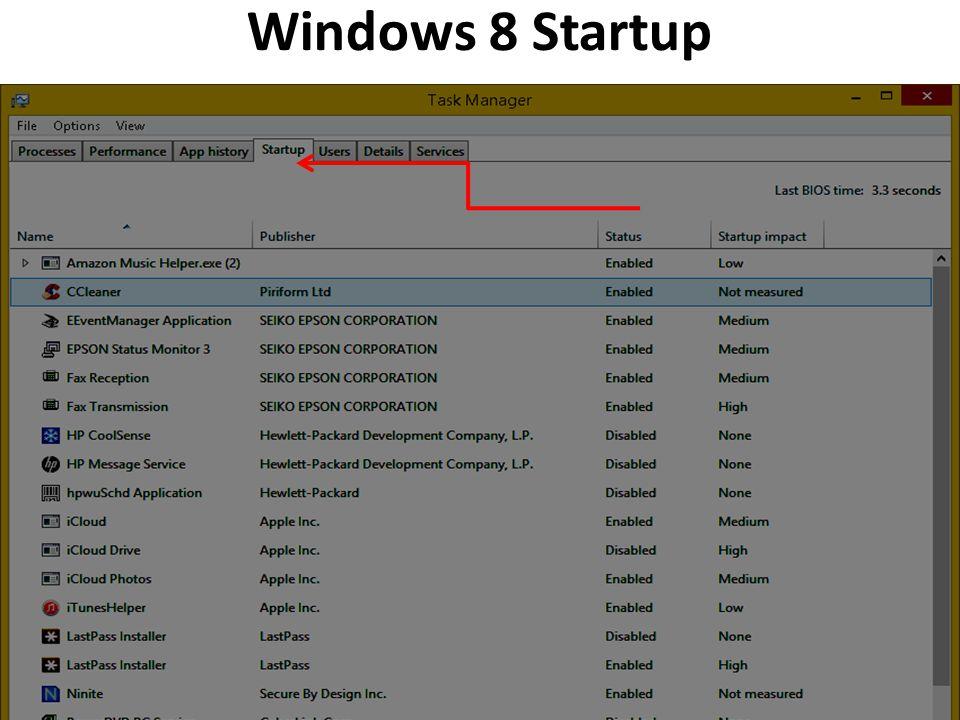 Windows 8 Startup 26 Startup Tab