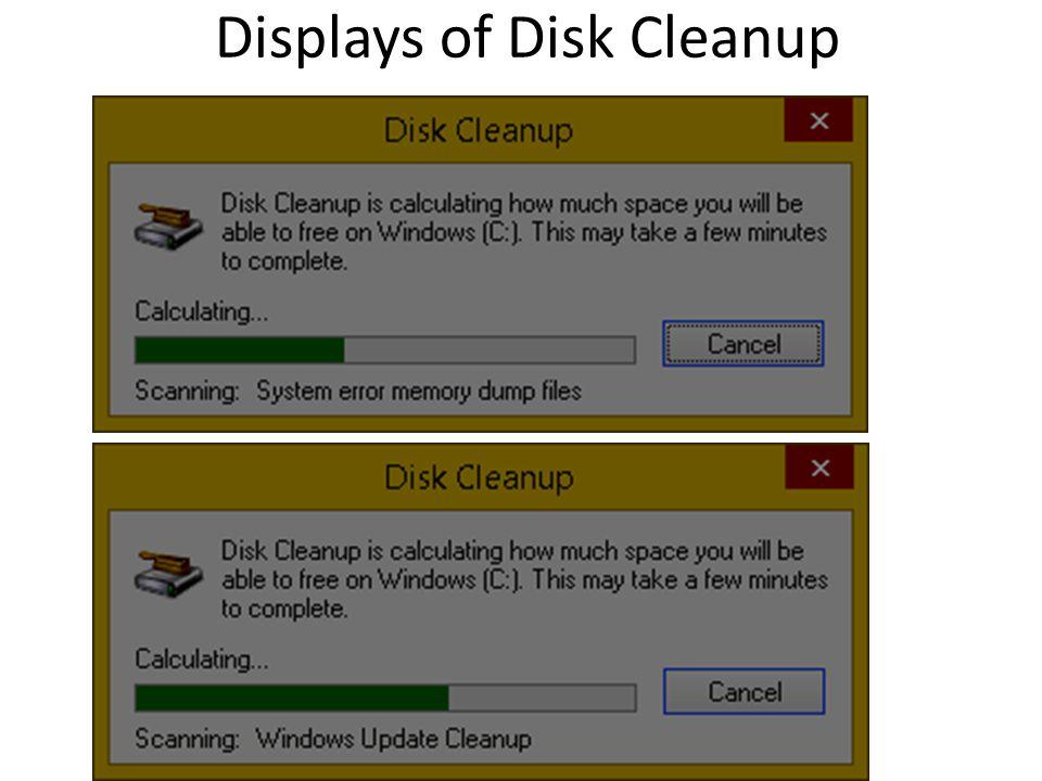 Displays of Disk Cleanup 44