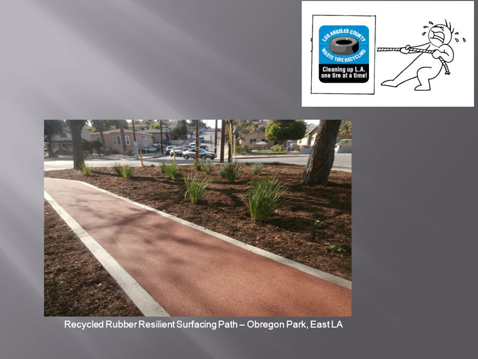 Recycled Rubber Resilient Surfacing Path – Obregon Park, East LA