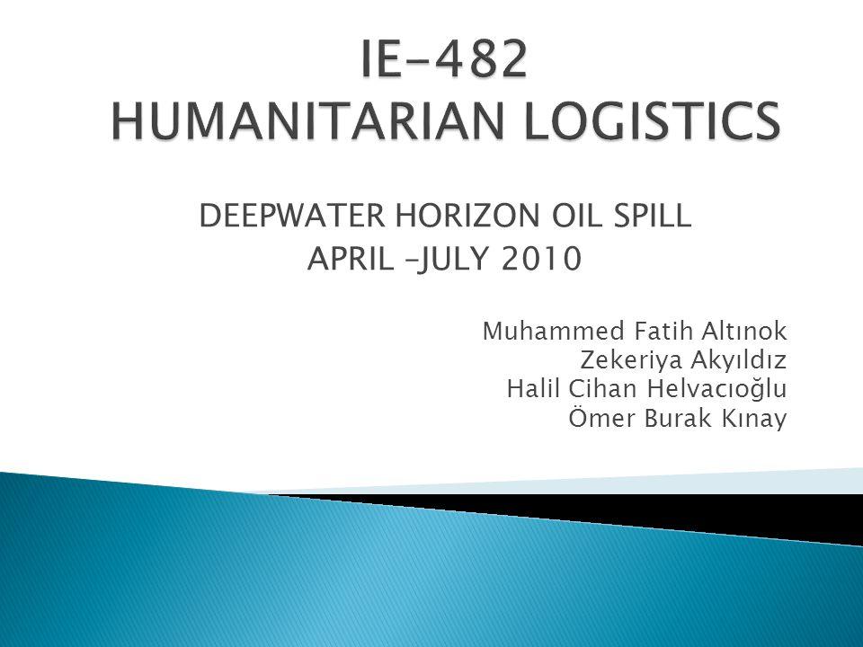 DEEPWATER HORIZON OIL SPILL APRIL –JULY 2010 Muhammed Fatih Altınok Zekeriya Akyıldız Halil Cihan Helvacıoğlu Ömer Burak Kınay
