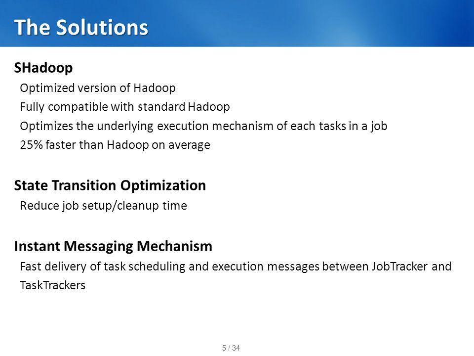 26 / 34 Message Transfer (Hadoop)