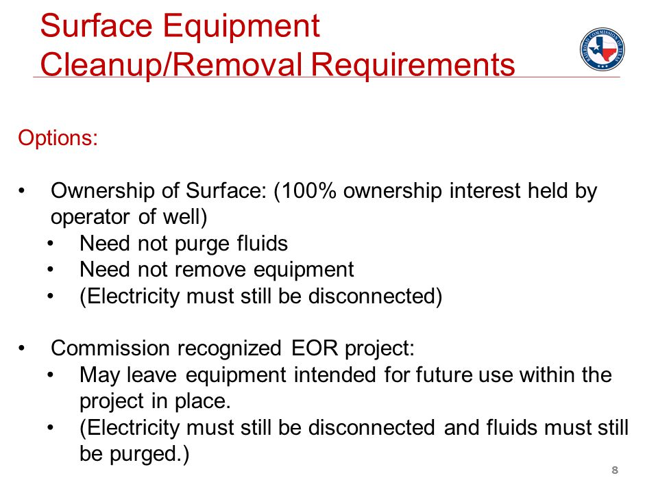 9 Form W-3C: (Certification of Surface Equipment Removal for an Inactive Well)