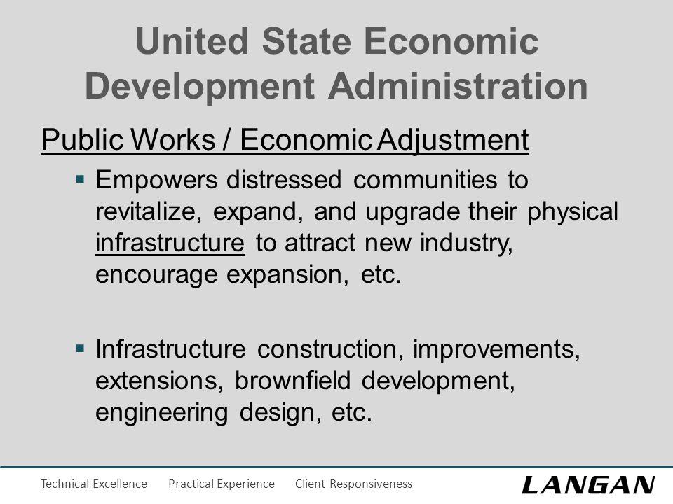 Technical Excellence Practical Experience Client Responsiveness United State Economic Development Administration Public Works / Economic Adjustment 