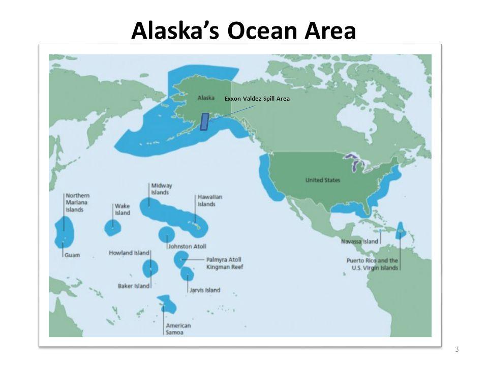 Alaska's Ocean Area 3 Exxon Valdez Spill Area