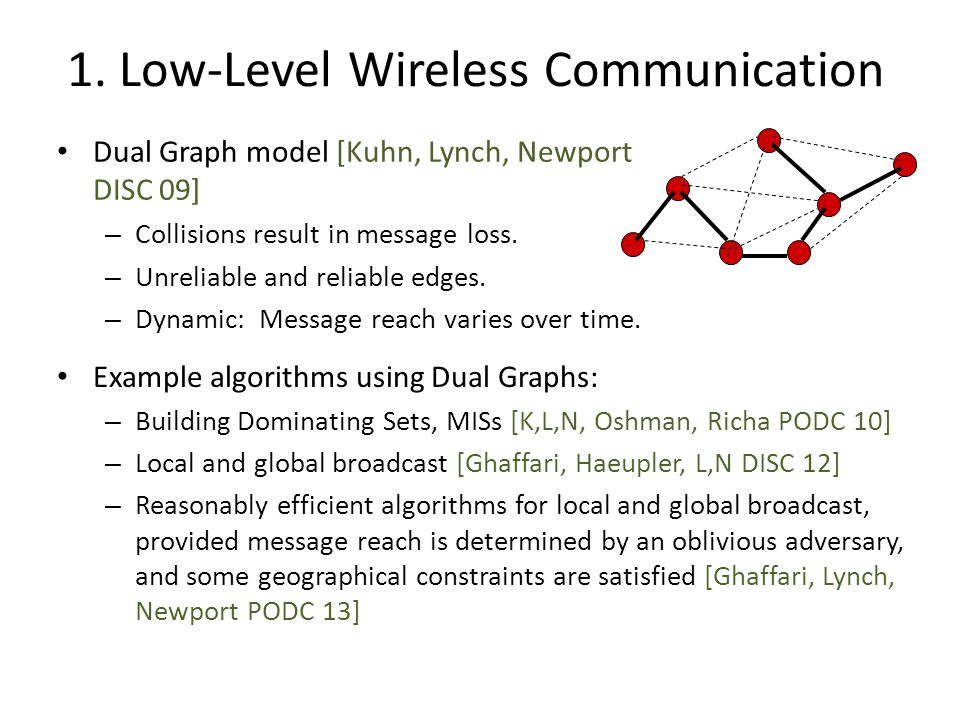 Low-Level Wireless Communication Algorithms are more costly than for the radio broadcast model.