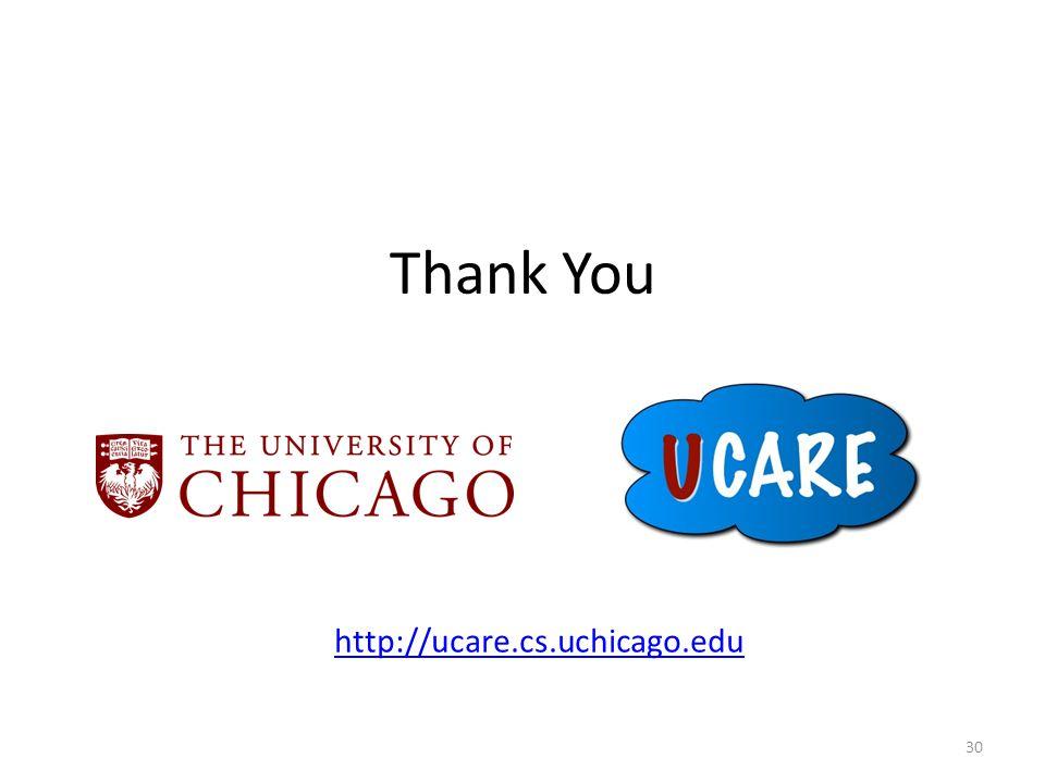 Thank You 30 http://ucare.cs.uchicago.edu