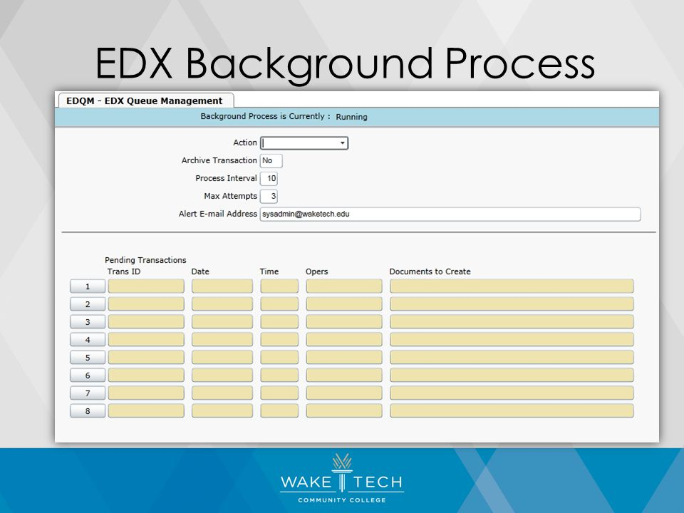 EDX Background Process