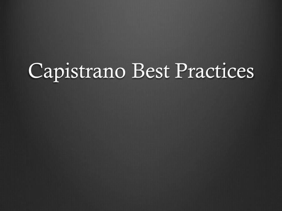 Capistrano Best Practices