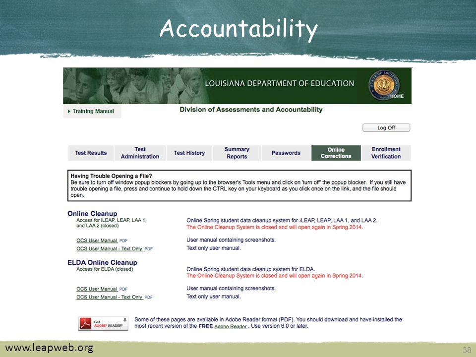 38 Accountability www.leapweb.org