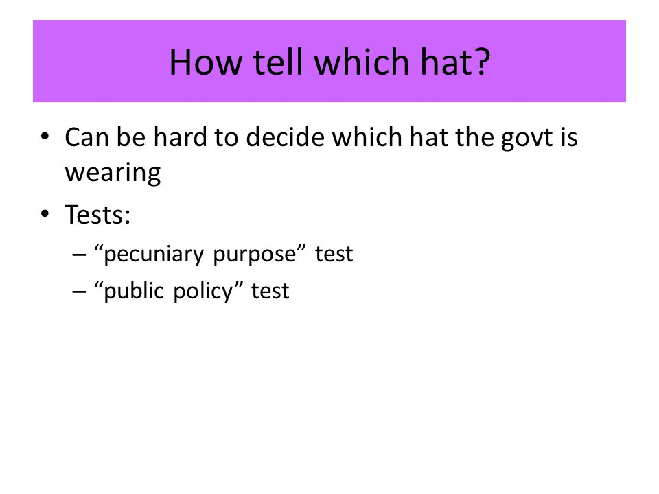 How tell which hat.