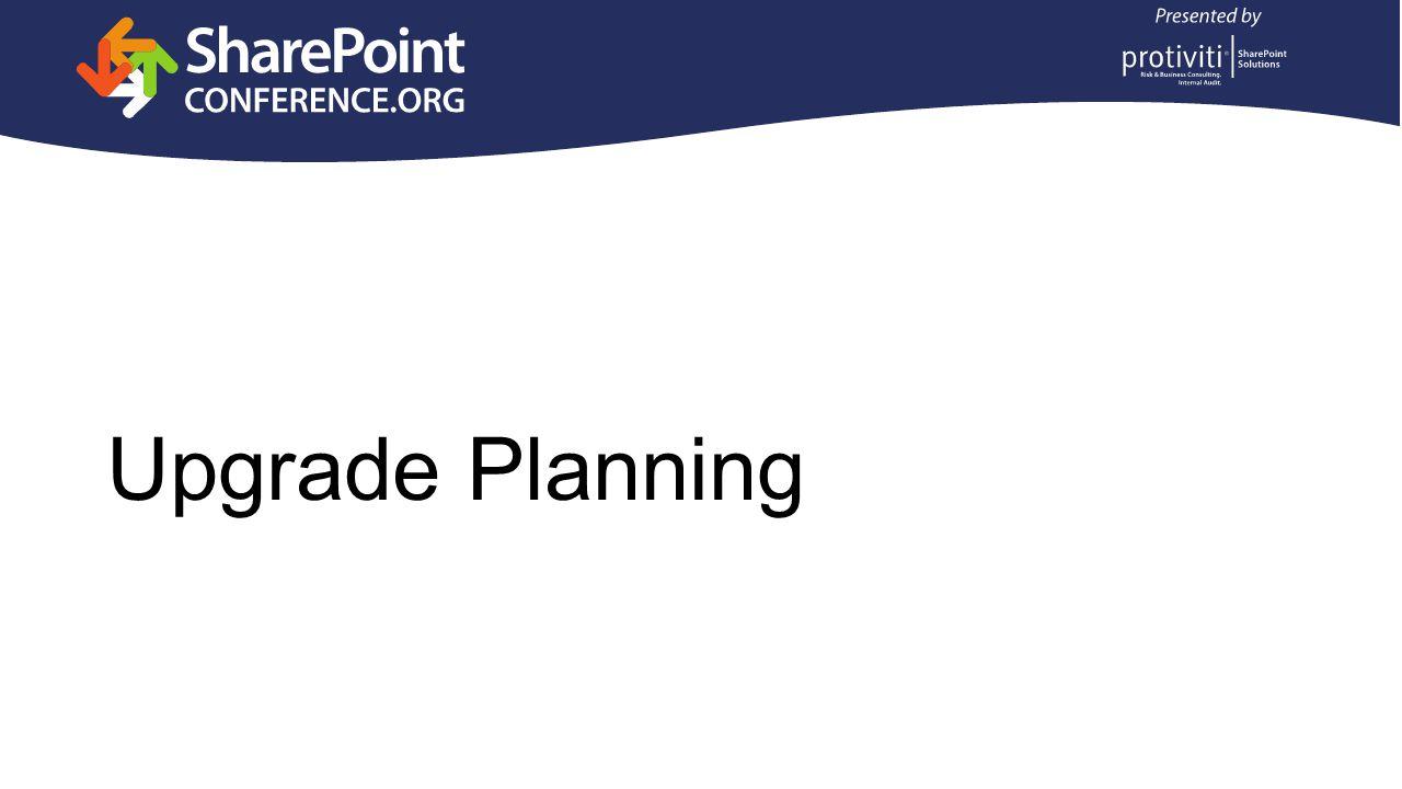 Upgrade Planning