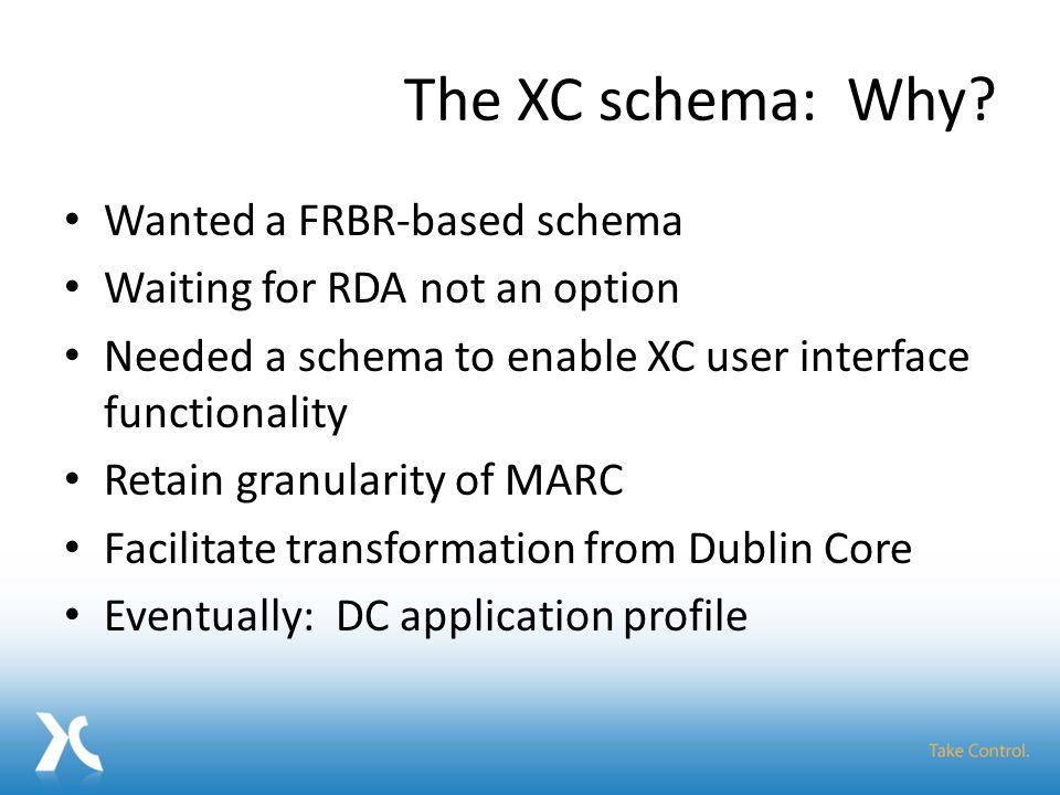 The XC schema: Why.