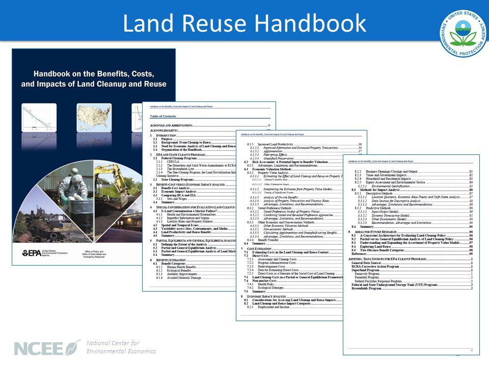 Land Reuse Handbook 2 National Center for Environmental Economics