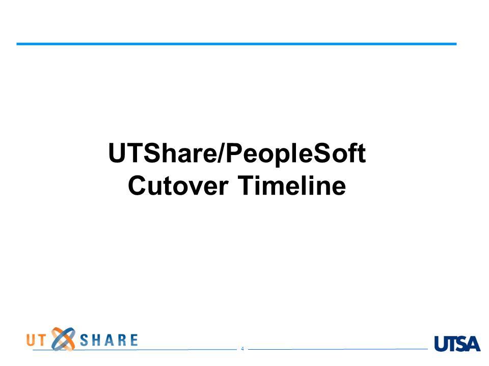 UTShare/PeopleSoft Cutover Timeline 4